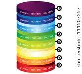 colorful cylinder diagram   Shutterstock .eps vector #111507257
