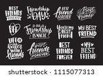 set of friends and friendship... | Shutterstock .eps vector #1115077313