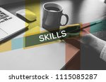 skills and workplace concept | Shutterstock . vector #1115085287