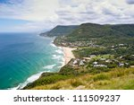 This image shows the Wollongong Coastline in Australia - stock photo