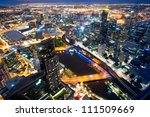 This image shows Melbourne, Australia - stock photo