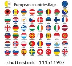 set of round buttons with flags ... | Shutterstock . vector #111511907
