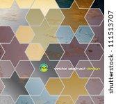 eps10 abstract retro geometric...   Shutterstock .eps vector #111513707