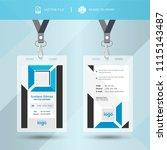 blue event staff id card set...   Shutterstock .eps vector #1115143487