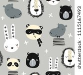 seamless childish pattern with... | Shutterstock .eps vector #1115167493