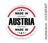made in austria flag button... | Shutterstock . vector #1115185307