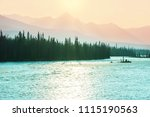picturesque canadian mountains... | Shutterstock . vector #1115190563