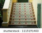 beautiful vintage ladders of...   Shutterstock . vector #1115191403