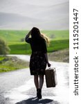 woman photo traveling in the... | Shutterstock . vector #1115201447