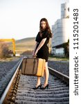 woman photo traveling in the... | Shutterstock . vector #1115201483
