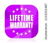 lifetime warranty violet square ...   Shutterstock .eps vector #1115221487