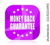 money back guarantee violet...   Shutterstock .eps vector #1115221493