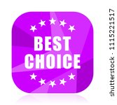 best choice violet square...   Shutterstock .eps vector #1115221517