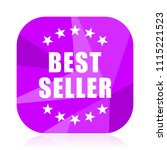 best seller violet square...   Shutterstock .eps vector #1115221523
