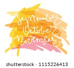 hand drawn doodle lettering  ... | Shutterstock .eps vector #1115226413