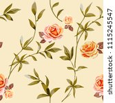 trendy floral background with...   Shutterstock .eps vector #1115245547