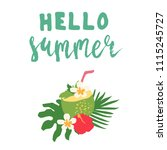minimal summer trendy vector... | Shutterstock .eps vector #1115245727