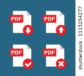 pdf formate file icons with...   Shutterstock .eps vector #1115254277