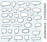 speech bubble vectors   comic... | Shutterstock .eps vector #1115261063