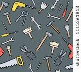 cartoon tools background  ... | Shutterstock .eps vector #1115261813