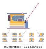 toll booth with barrier. gate... | Shutterstock .eps vector #1115264993