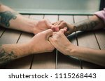 close up on a man and a woman... | Shutterstock . vector #1115268443
