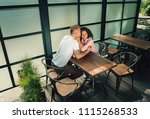 i love you. romantic kiss.... | Shutterstock . vector #1115268533