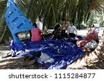 refugees and migrants in a... | Shutterstock . vector #1115284877