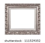 Silver picture frame. - stock photo