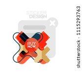 flat design cross shape...   Shutterstock .eps vector #1115293763