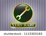shiny badge with wrench icon... | Shutterstock .eps vector #1115303183