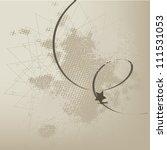 dark vector background with... | Shutterstock .eps vector #111531053