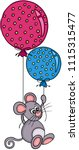little mouse flying with two... | Shutterstock .eps vector #1115315477