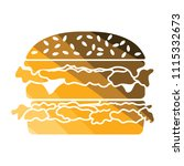 hamburger icon. flat color... | Shutterstock .eps vector #1115332673
