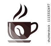 coffee cup icon. flat color... | Shutterstock .eps vector #1115332697
