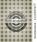 gold membership arabesque style ... | Shutterstock .eps vector #1115337677