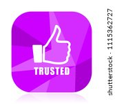 trusted violet square vector...   Shutterstock .eps vector #1115362727