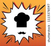 chef hat and moustache sign....   Shutterstock .eps vector #1115378597