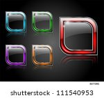 set of transparent buttons for...   Shutterstock .eps vector #111540953