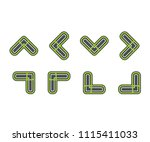 set icon arrow symbol  vector... | Shutterstock .eps vector #1115411033