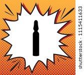 medical ampoule sign. vector.... | Shutterstock .eps vector #1115411633