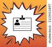 id card sign. vector. comics... | Shutterstock .eps vector #1115411897