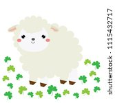 cute cartoon sheep  lamb. farm... | Shutterstock . vector #1115432717