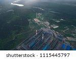aluminum metallurgical plant... | Shutterstock . vector #1115445797