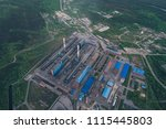 aluminum metallurgical plant... | Shutterstock . vector #1115445803