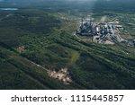 aluminum metallurgical plant... | Shutterstock . vector #1115445857