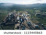 aluminum metallurgical plant... | Shutterstock . vector #1115445863