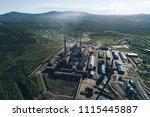 aluminum metallurgical plant... | Shutterstock . vector #1115445887
