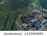 aluminum metallurgical plant... | Shutterstock . vector #1115445893