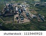aluminum metallurgical plant... | Shutterstock . vector #1115445923